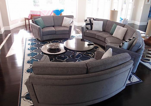 Modulars pacific furniture design upholstery for Curved lounge