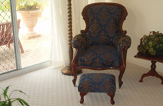 antique chair & stool