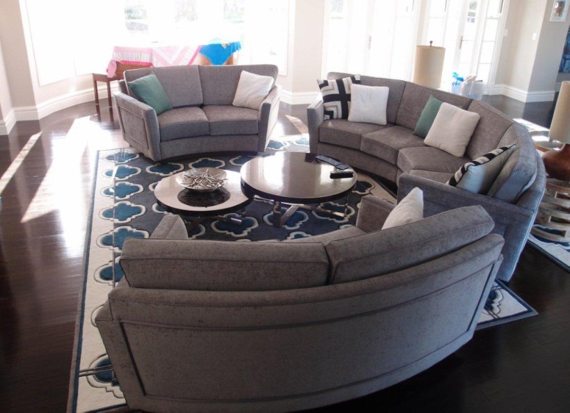 ascot curved lounge customized for a perfect fit