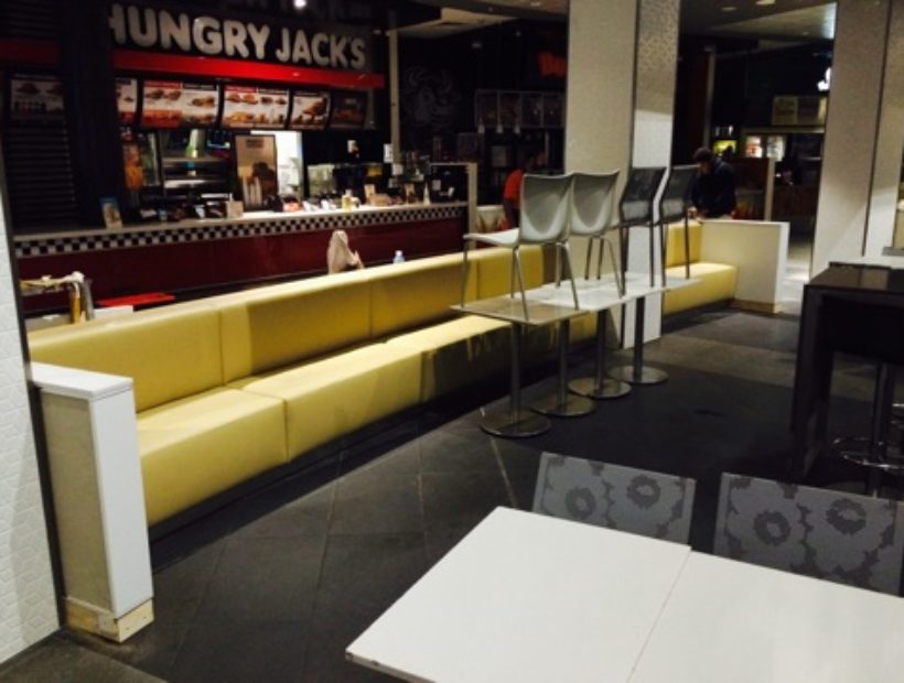 Robina Town Centre Foodcourt – Amazing Yellow Chairs