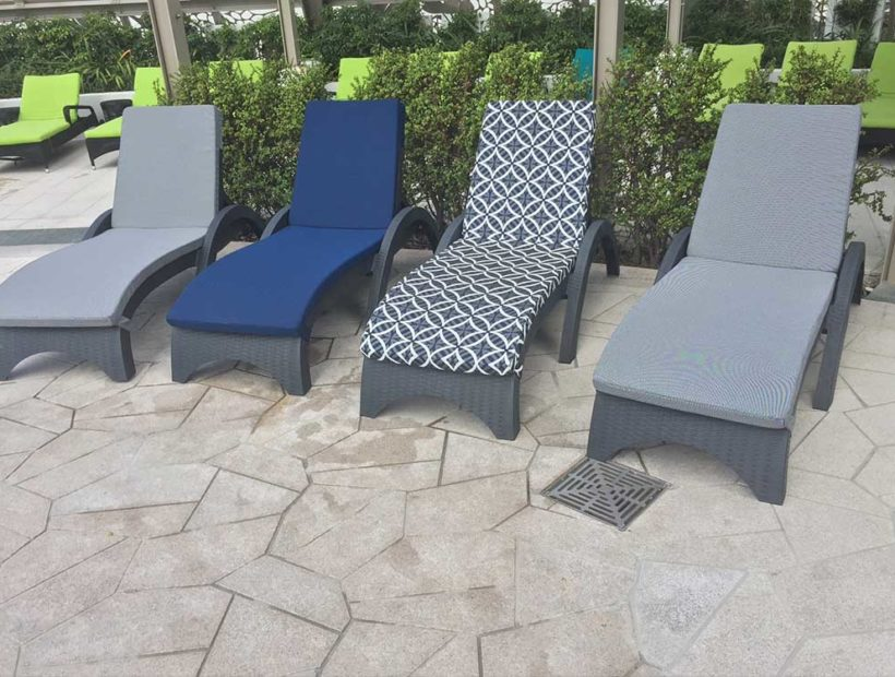 Soul Surfers Paradise – Cool Blue Pool Lounge Chairs